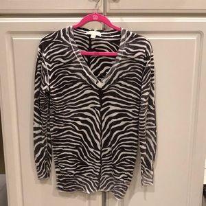 Michael Kors Zebra Striped Sweater